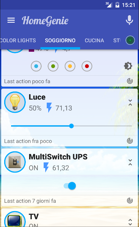 HomeGenie Plus- screenshot