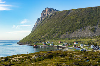 Photo: Rekvik is the small place where the road across the Northern part of Kvaløya island ends.