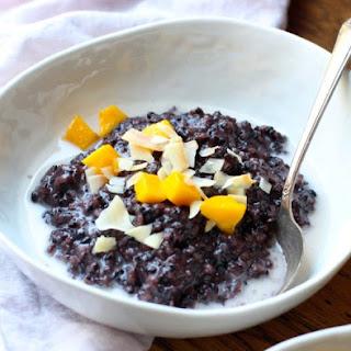 Forbidden Rice Porridge (gluten free, soy free, vegan)