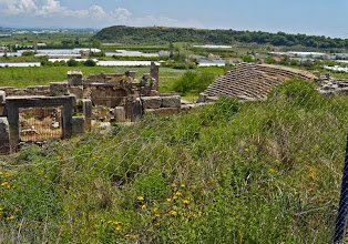 Photo: Perge - Theatre and view of the city