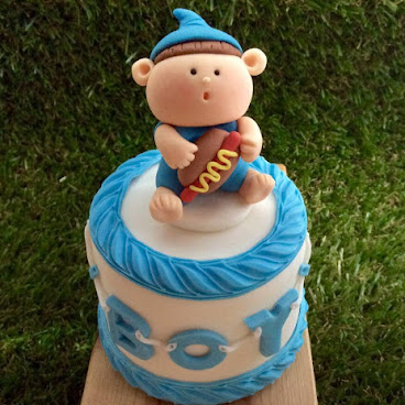 MINI BABY SHOWER CAKE (BOY)