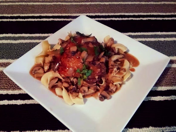 Chicken With Mushrooms In A Balsamic Cream Sauce Recipe