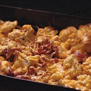 Cheesy Roasted Cauliflower and Onions.