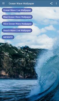 Blue Ocean Waves Beach Summer Spring Wallpaper Poster