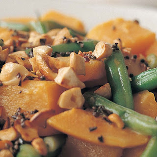 Butternut Squash and Green Beans in a Coconut-Milk Curry Recipe | Epicurious.Com Recipe
