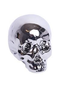Sparbössa dödskalle, silver