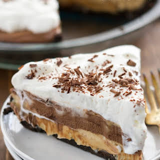 No Bake Peanut Butter Chocolate Cream Pie.