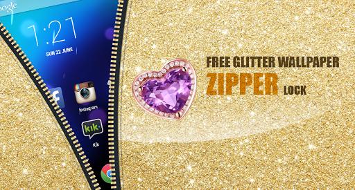 Free Glitter Wallpaper Zipper