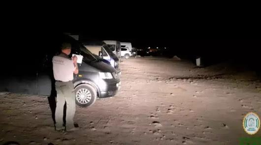 Hasta 20 multas en Cabo de Gata a caravanas llegadas desde fuera de Almería