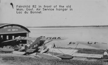 Photo: CF-MAK, Fairchild 82, Lac du Bonnet.