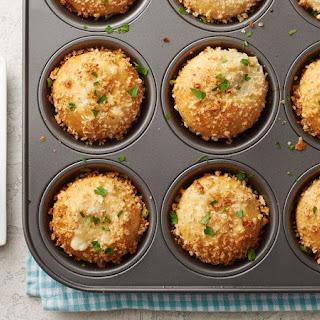 Muffin-Tin Chicken Alfredo Biscuit Bombs.