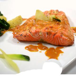 Grilled Sriracha Salmon