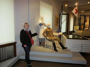 Photo: Laurie and a WW I nurse