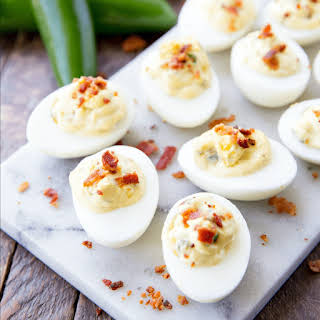 Bacon Jalapeno Deviled Eggs.