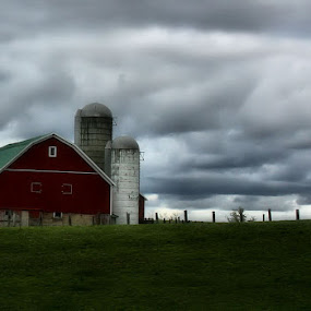 Red by Shelly B. - Landscapes Prairies, Meadows & Fields
