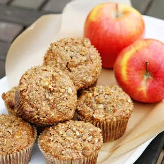 Heart Healthy Apple Oat Bran Muffins.