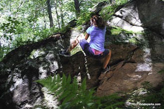 Photo: Bouldering at Gifford Woods State Park by Carolyn Dean