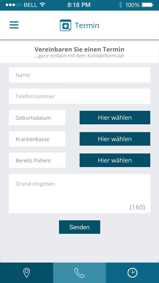 Die Praxis App- screenshot