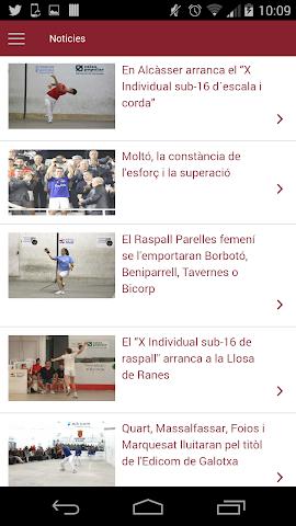 android Federació de Pilota Valenciana Screenshot 1