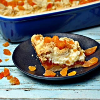 French Apricot Cream Cheese Bars.