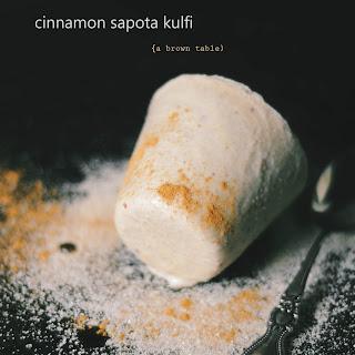 Cinnamon Sapota Kulfi