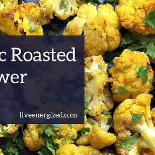 Roasted Cauliflower & Turmeric with Coriander and Mint
