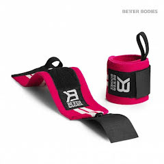 Womans Wrist Wraps, Pink/White