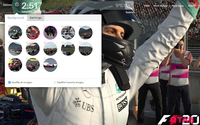 F1 2016 Wallpapers New Tab Theme