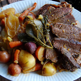 Pot Roast with Root Vegetables.