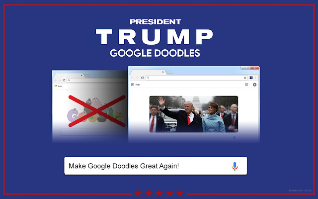 President Trump Google Doodles