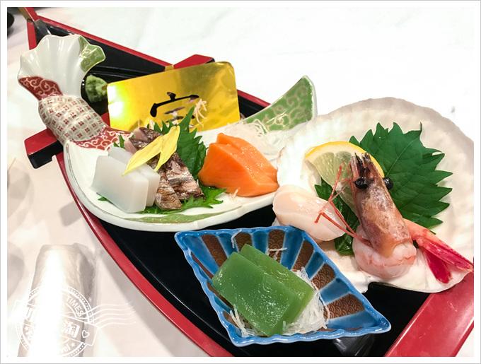 森之風鶯宿酒店早晚餐生魚片船