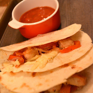 Tortilla Wraps with Chicken Marinated in Pineapple Juice Recipe