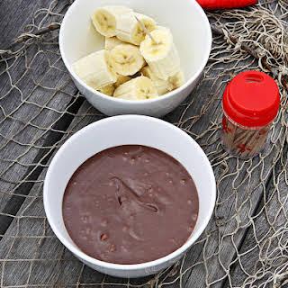 Bananas with Chocolate and Hazelnut Sauce.