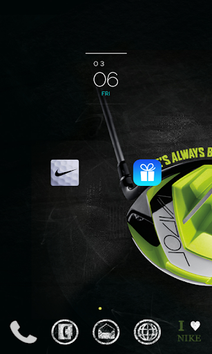 Nike Golf Vapor launcher theme