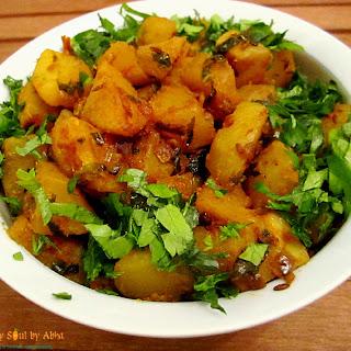 Potato Kohlrabi Subzi