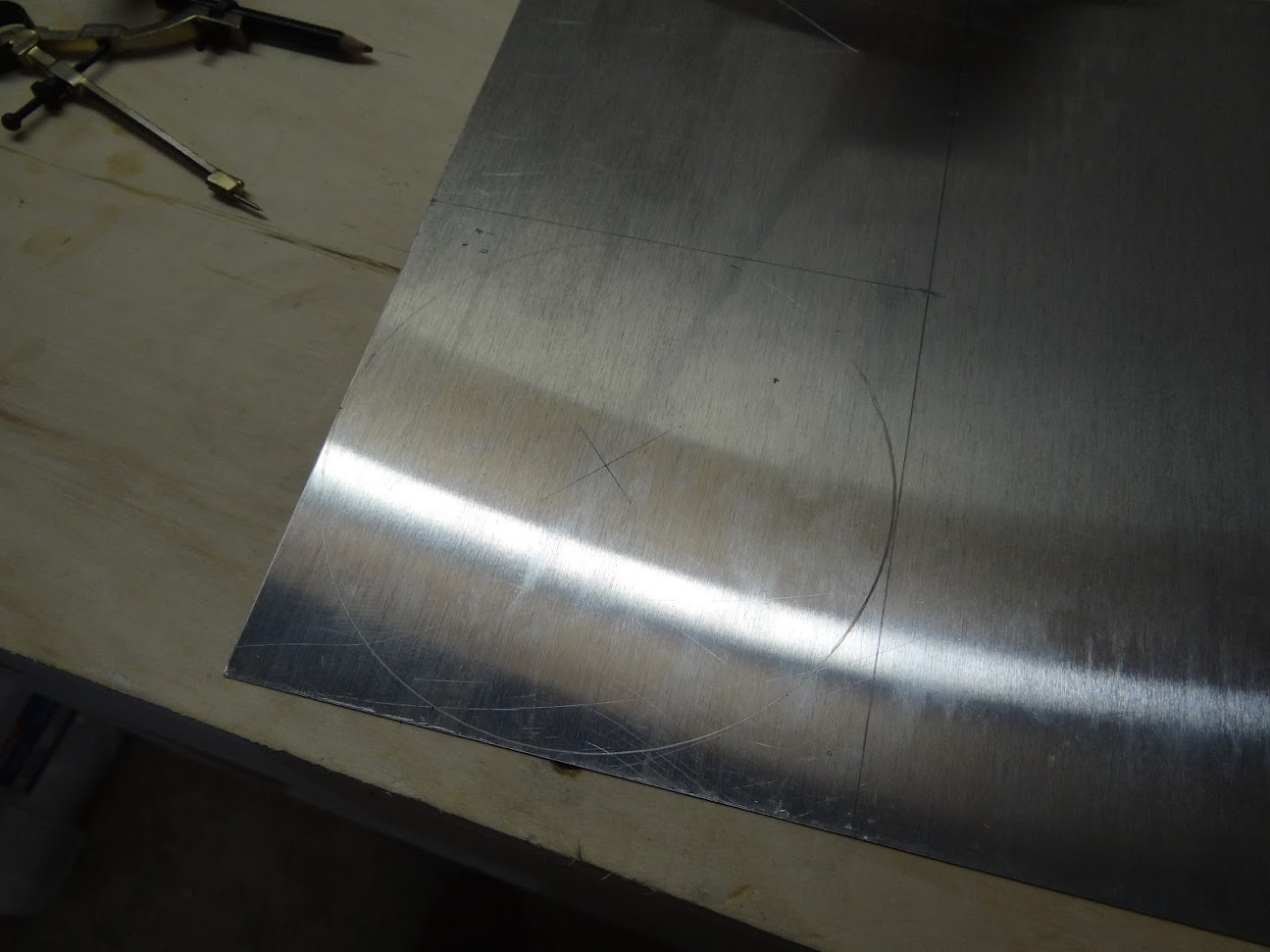 how to cut a circle in sheet metal