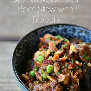 Slow Cooker Beef Stew with Bacon.