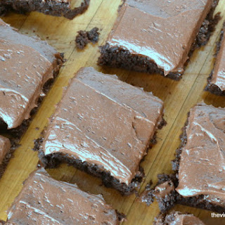 Chocolate Fudge Brownies with Chocolate Buttercream