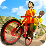 Kids Bicycle Taxi Sim 2018: Offroad BMX Racing