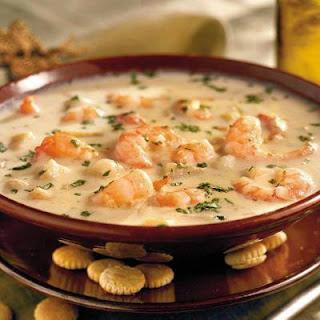 Creamy Shrimp Chowder.