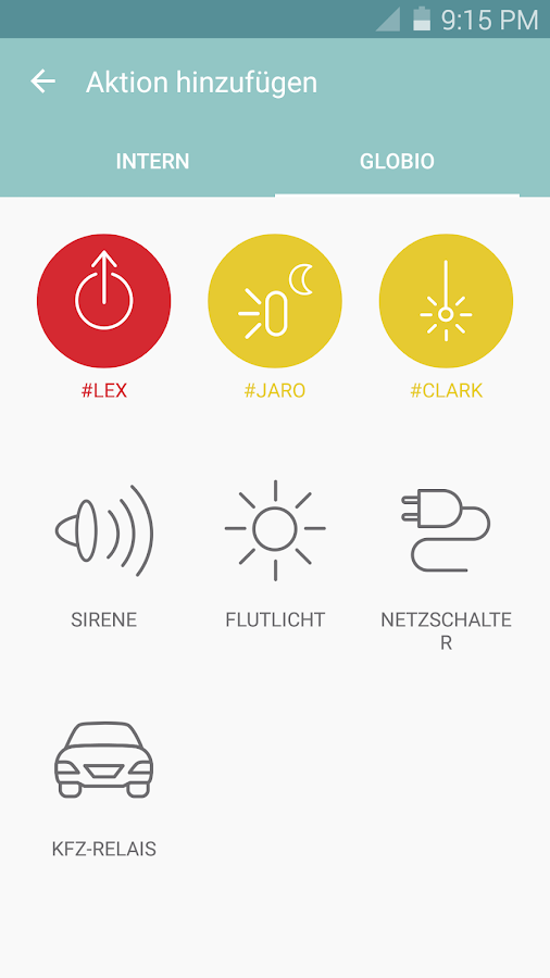 globio Alarmanlage Lite – Screenshot