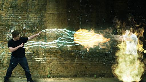 Superhero explosions effects