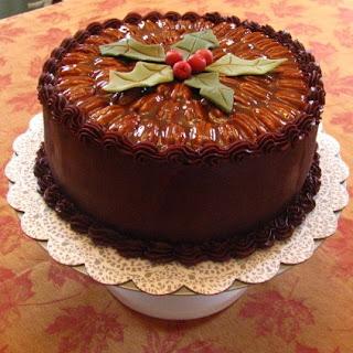 Caramel Turtle Cake