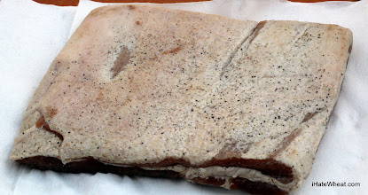 Photo: The pork belly after curing for 6 days and rinsing off the excess salt and sugar.  The pepper stayed on well.