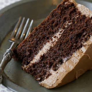 Chocolate Cake with Chocolate Buttercream (Paleo, Grain Free, Gluten Free).