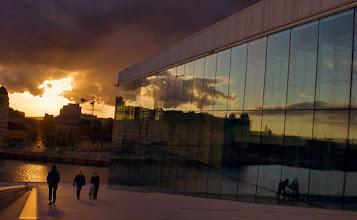 Photo: Day 243 / June 11, 2012 Good morning!  Opera House from Oslo, Norway  おはようございます。 オペラハウスから見る夕日 #creative366project