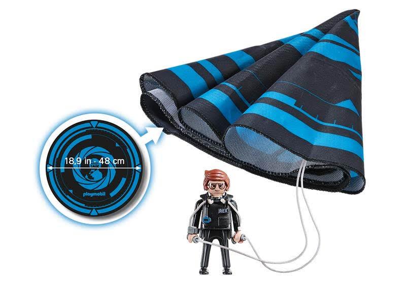 Contenido de Playmobil® 70070 Rex Dasher con Paracaídas