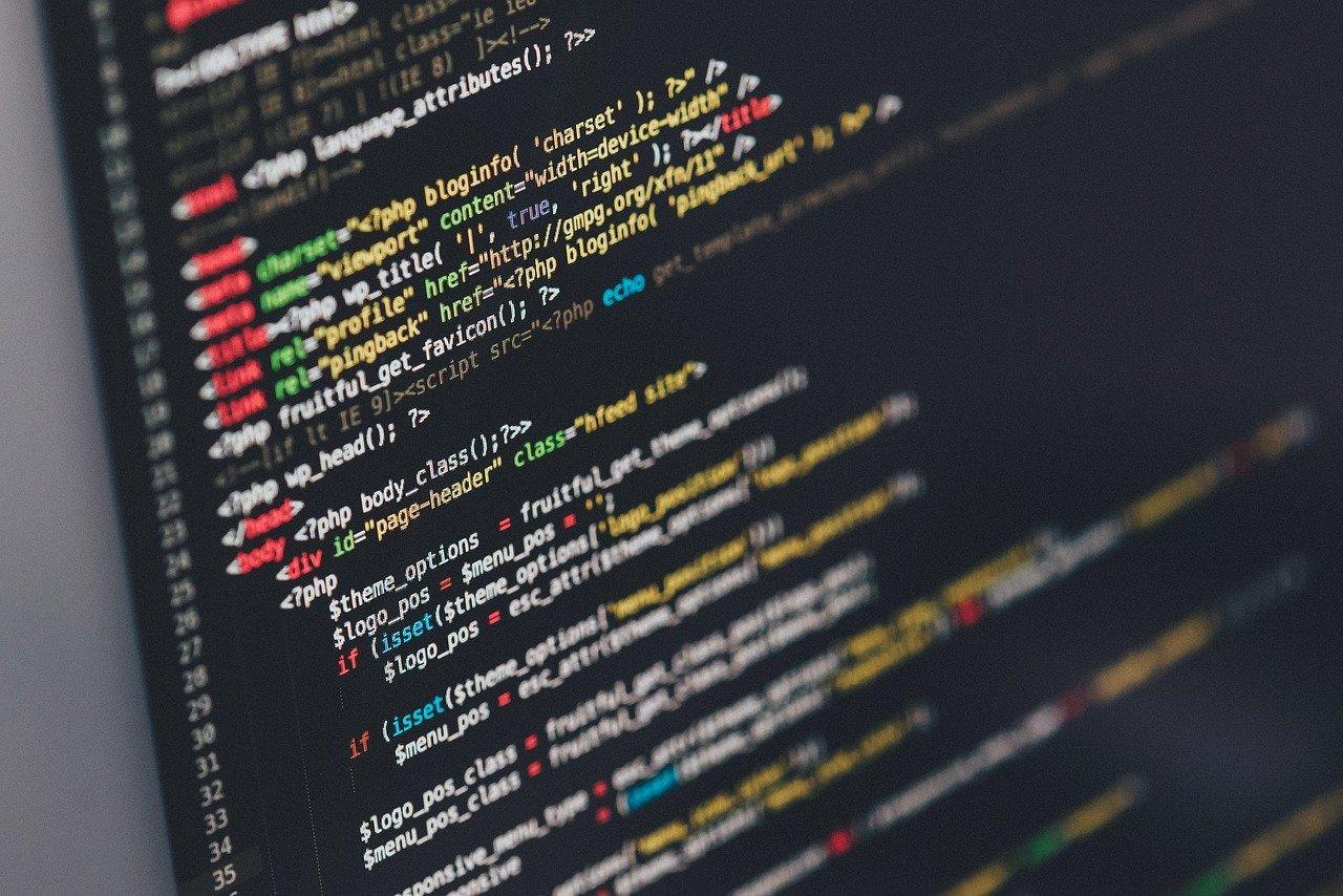ilustração de uma tela de programação