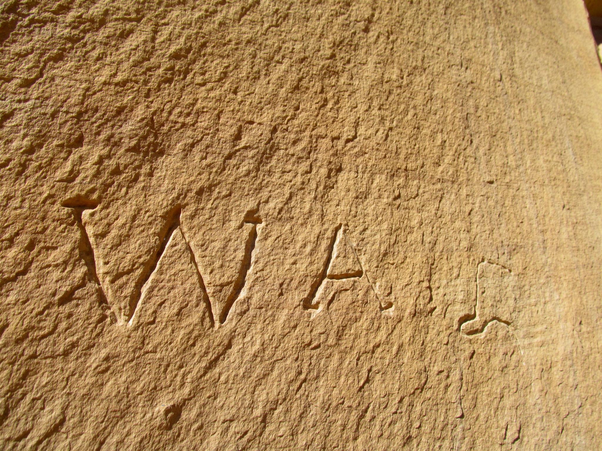 Photo: W.A. inscription