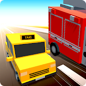 Blocky Racer Traffic Rush 2018